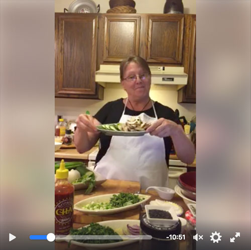 Mama Caruso Cooks: membership benefits - LIVE Cooking