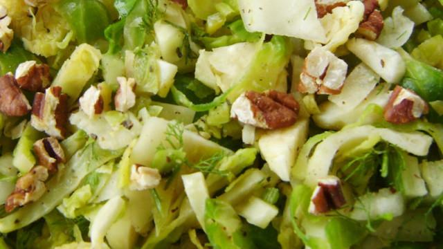 Brussel Sprout Fennel Lemon Salad
