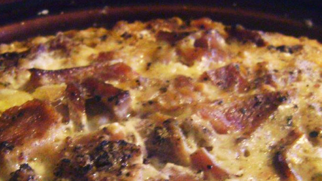 easy crock pot egg bake