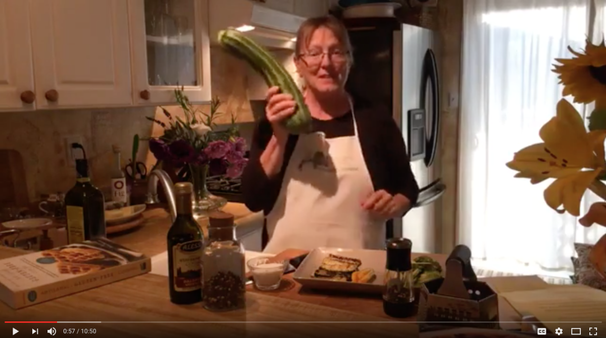 Mama Caruso Cooks with zucchini