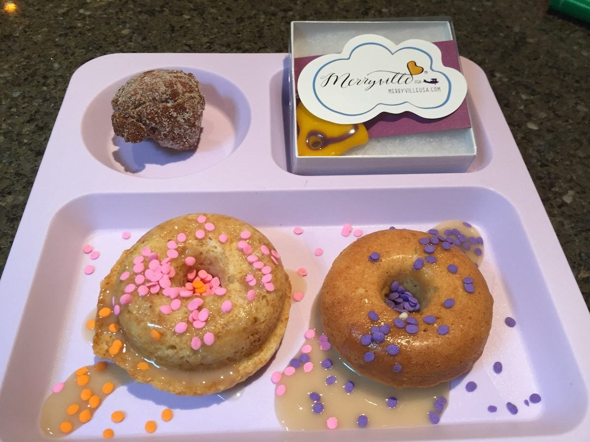 when you are in Merryville you have to have doggie donuts with Mama Caruso Cooks
