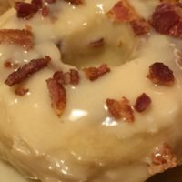 bacon donuts with Mama CAruso Cooks